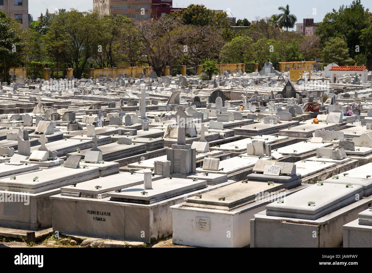 Cemetery Cementerio Cristobal Colon in Havana, Cuba Stock Photo