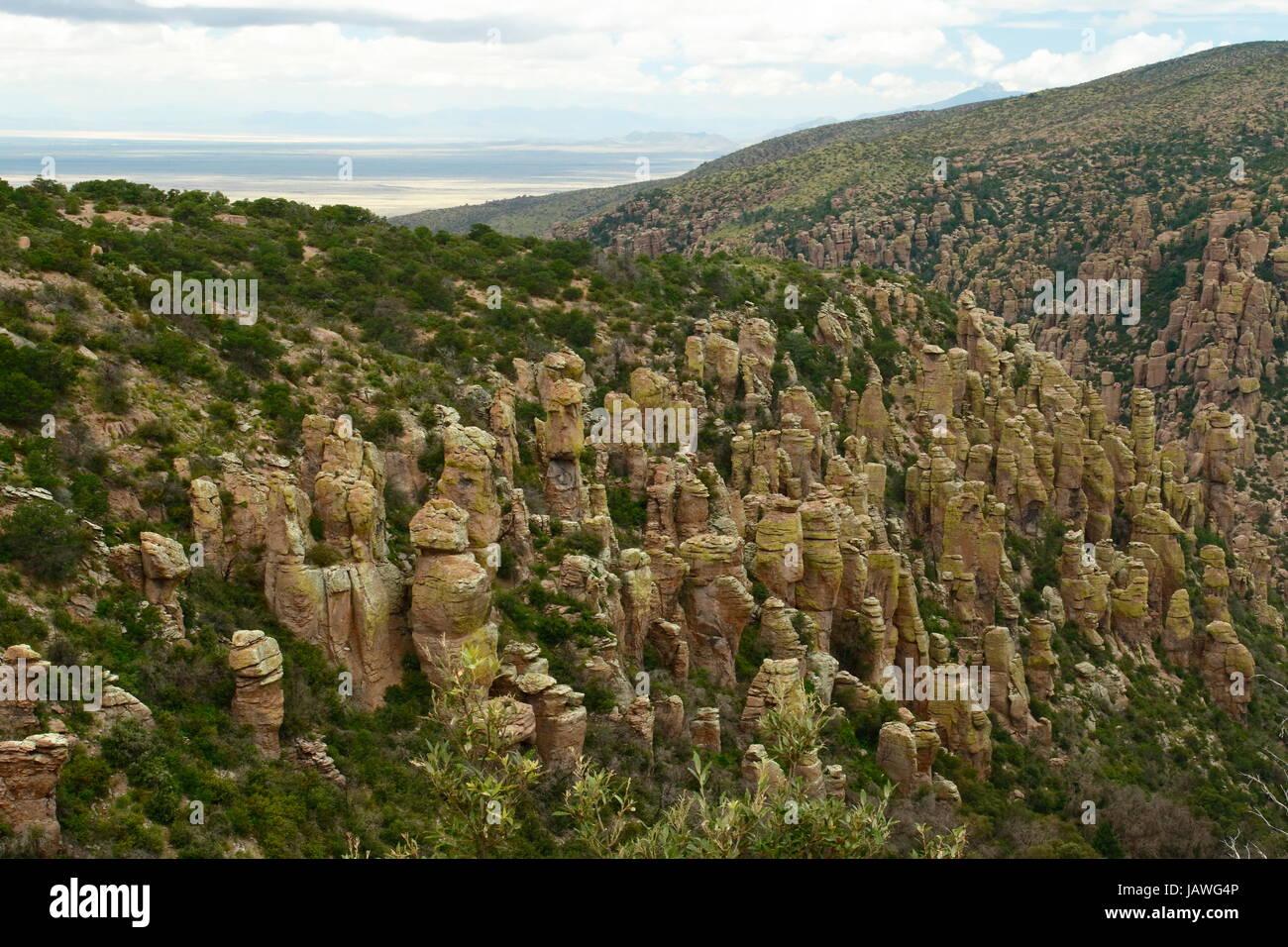 The Chiricahua National mountains in southeastern Arizona. - Stock Image