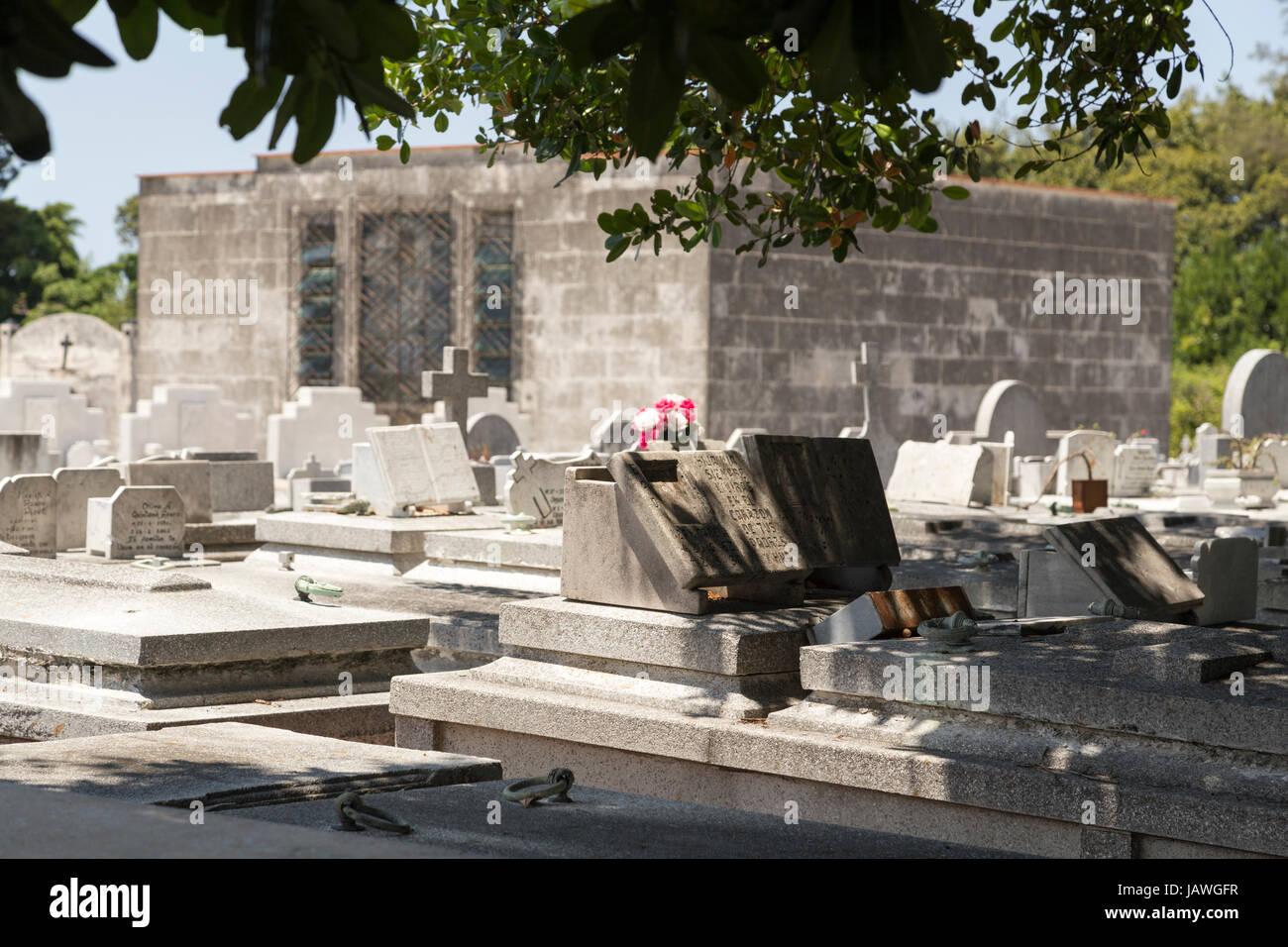 Cemetery Cementerio Cristobal Colon in Havana, Cuba - Stock Image