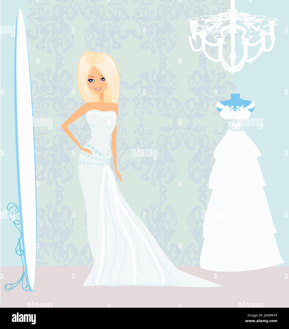 Wedding Dresses Vector High Resolution Stock Photography And Images Alamy