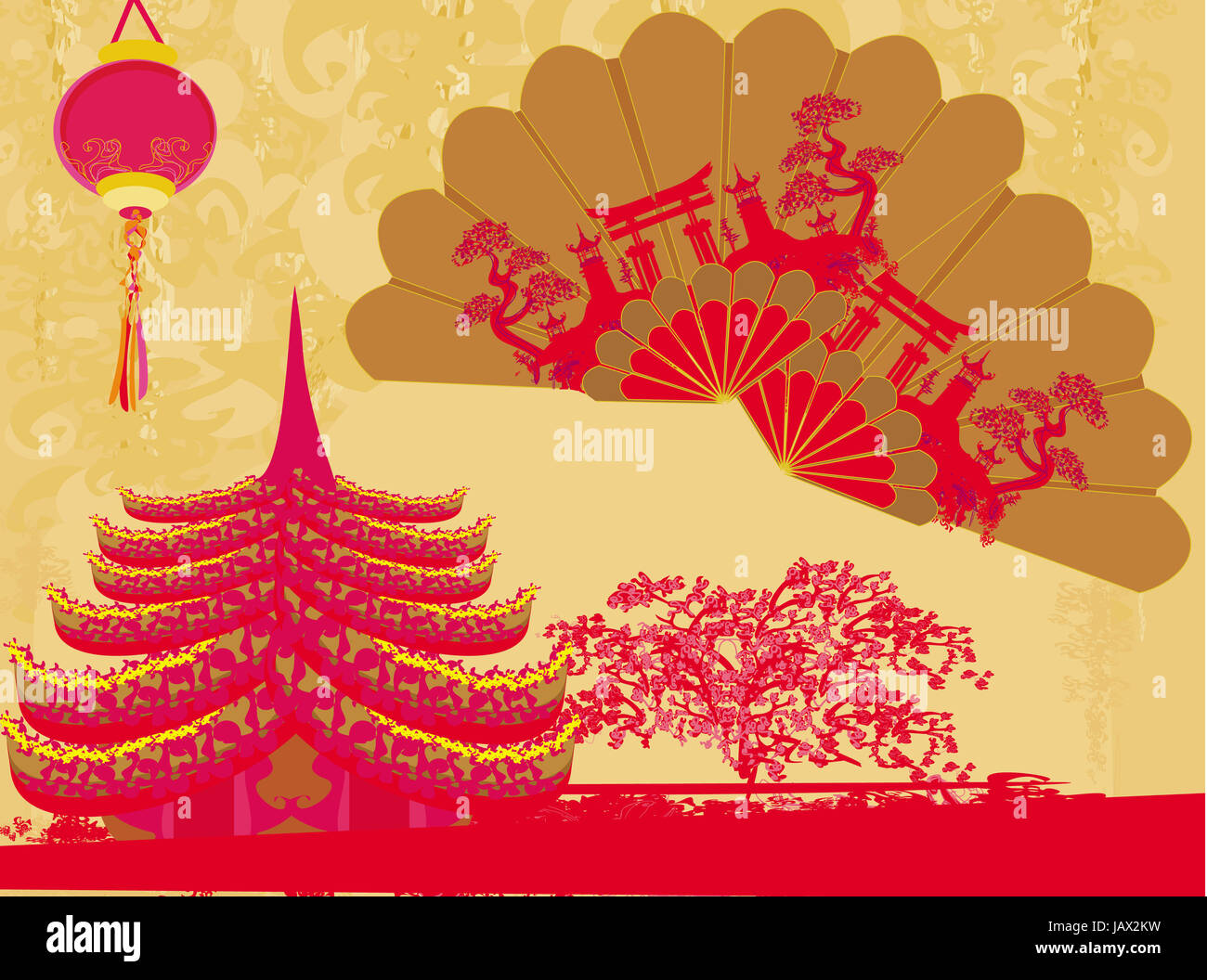 Decorative Traditional Lanterns Chinese Landscape Beautiful
