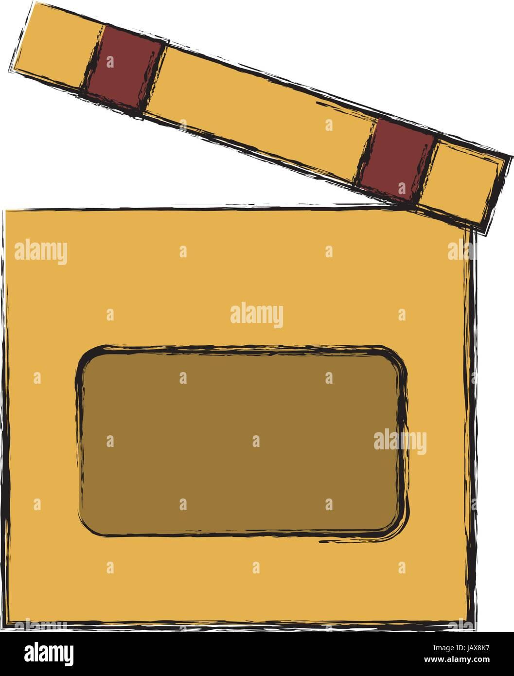 clapboard icon image stock vector art illustration vector image