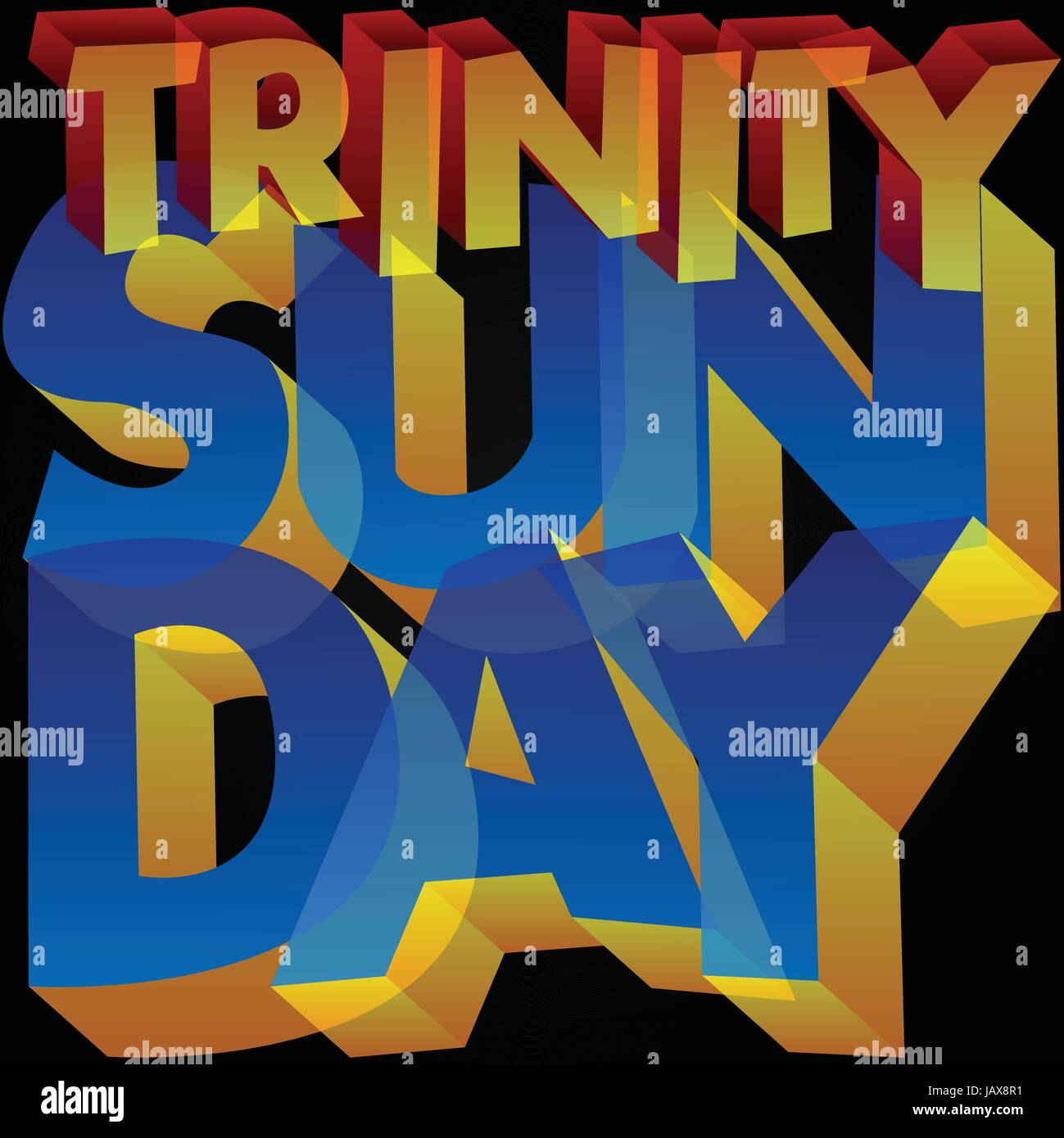 Vector illustrated banner or poster for Trinity Sunday. - Stock Vector