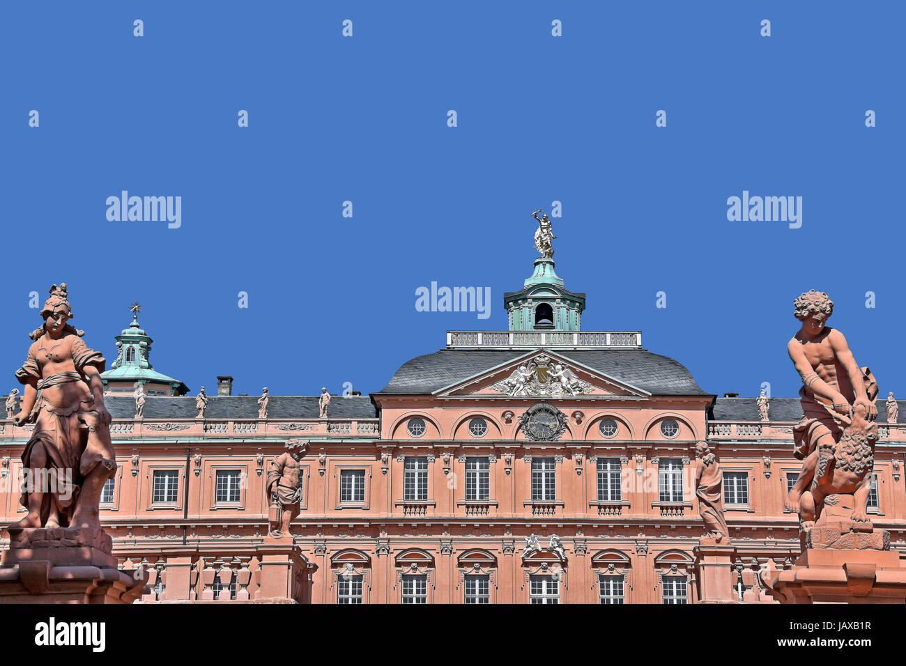 royal palace in rastatt Stock Photo