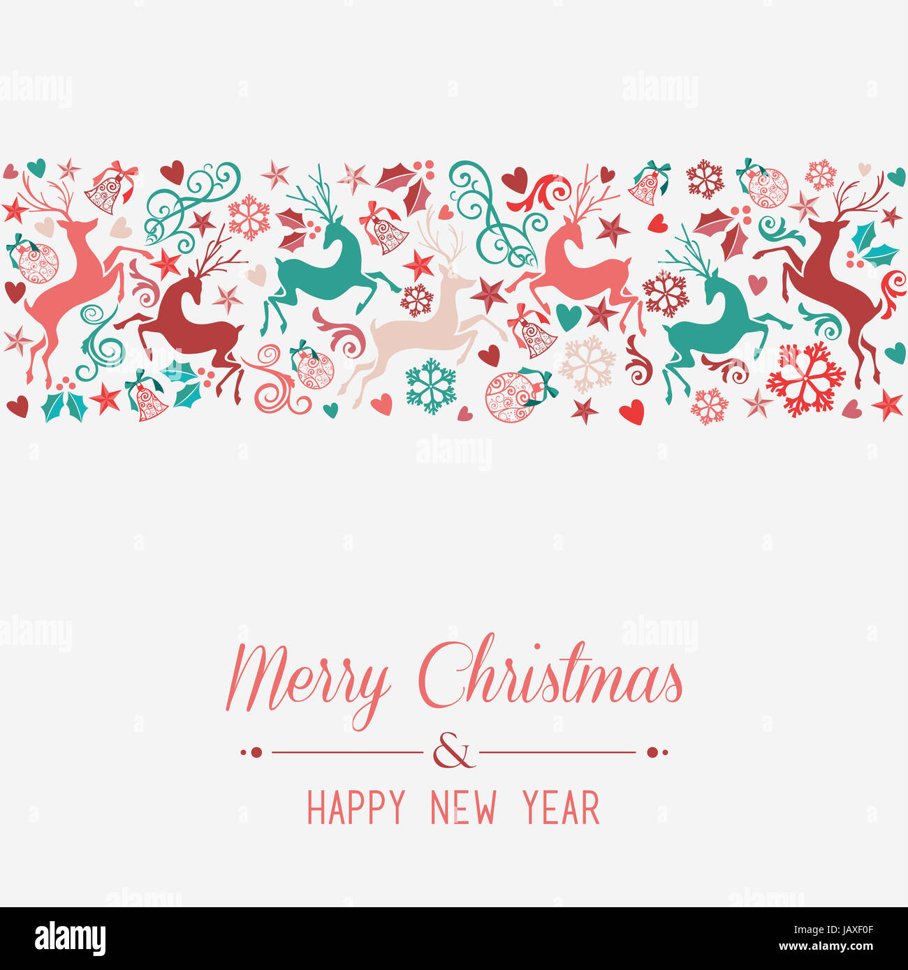 merry christmas and happy new year banner greeting card background eps10 vector file organized in layers for easy editing