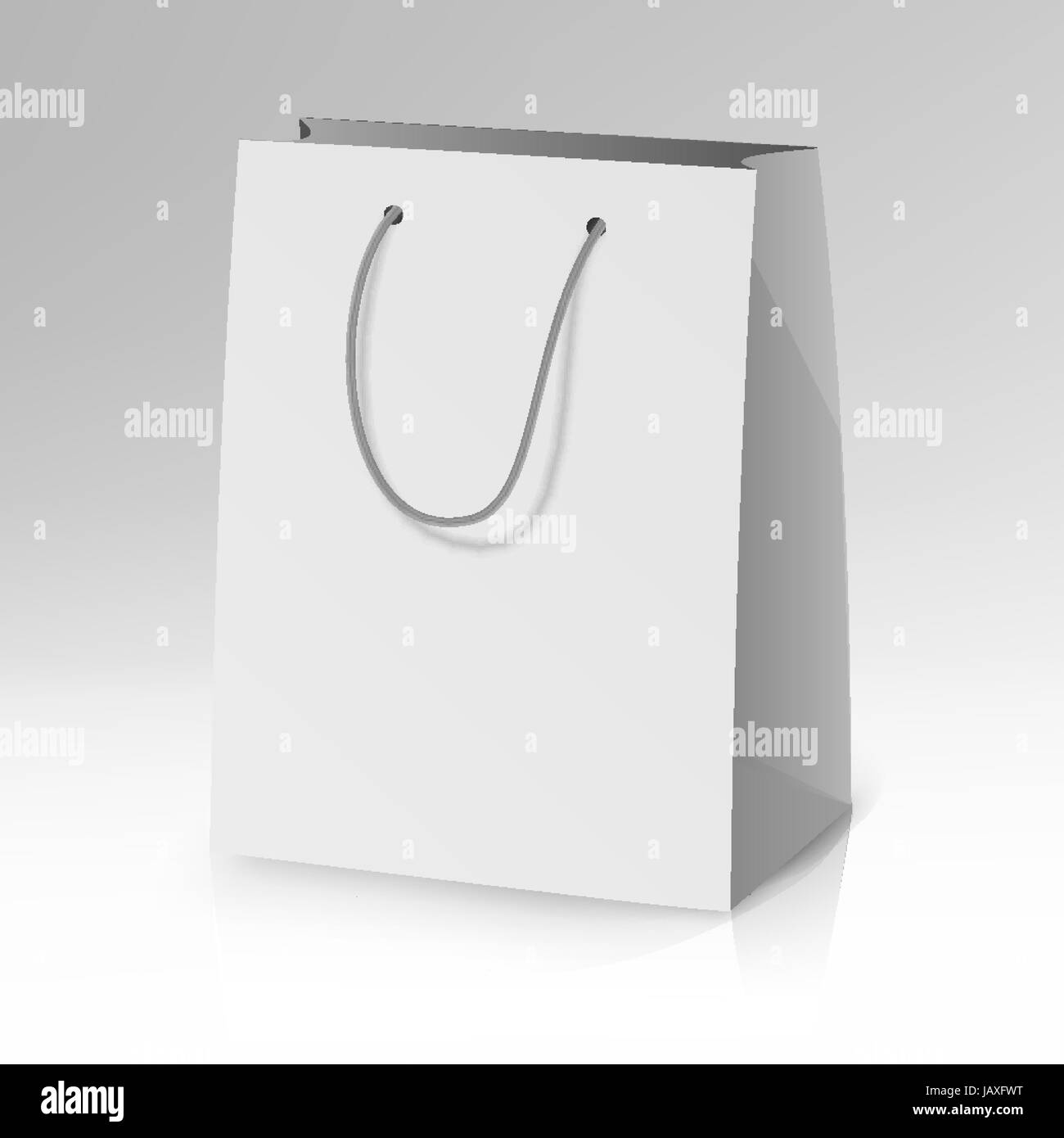 blank paper bag template vector 3d realistic shopping or gift bag