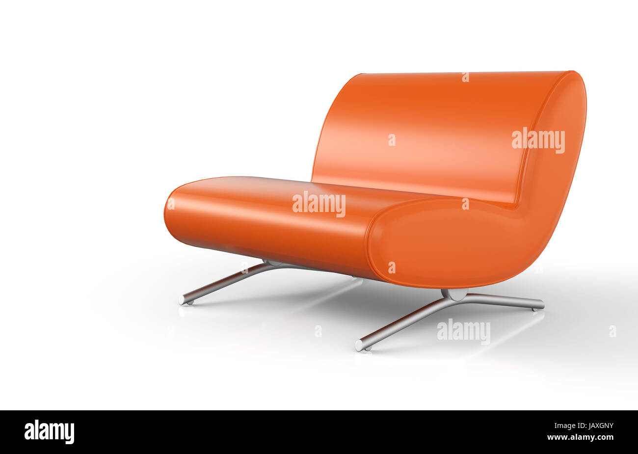 Ergonomischer Designer Sessel Orange Stock Photo 144413415 Alamy