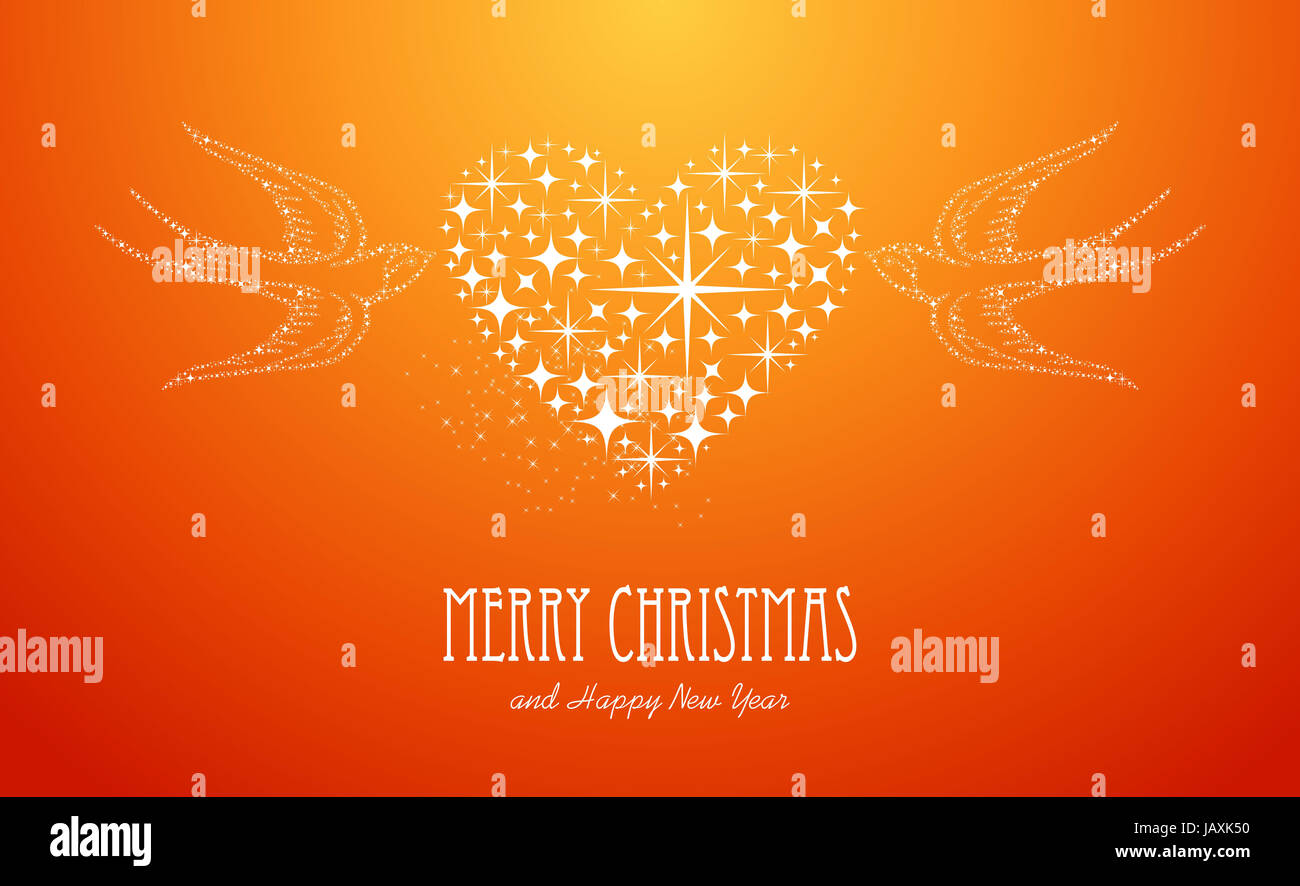 Merry Christmas and Happy New Year 2014 contemporary peace dove love ...