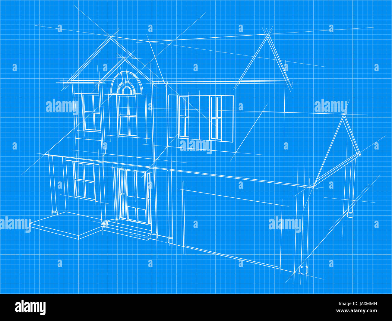 An illustration of a blueprint for an new house under construction an illustration of a blueprint for an new house under construction malvernweather Images