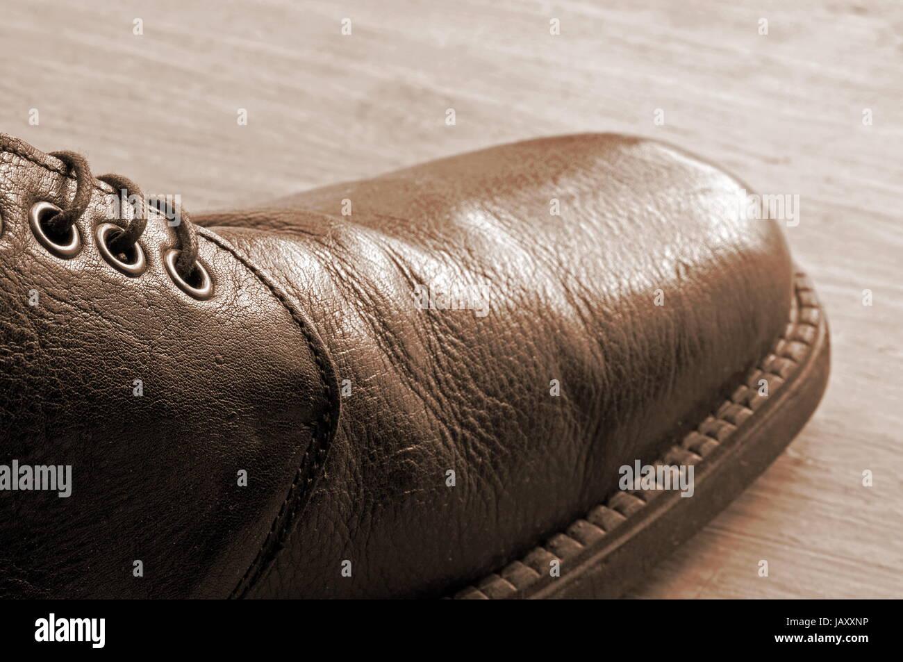 leather shoe antique-style Stock Photo