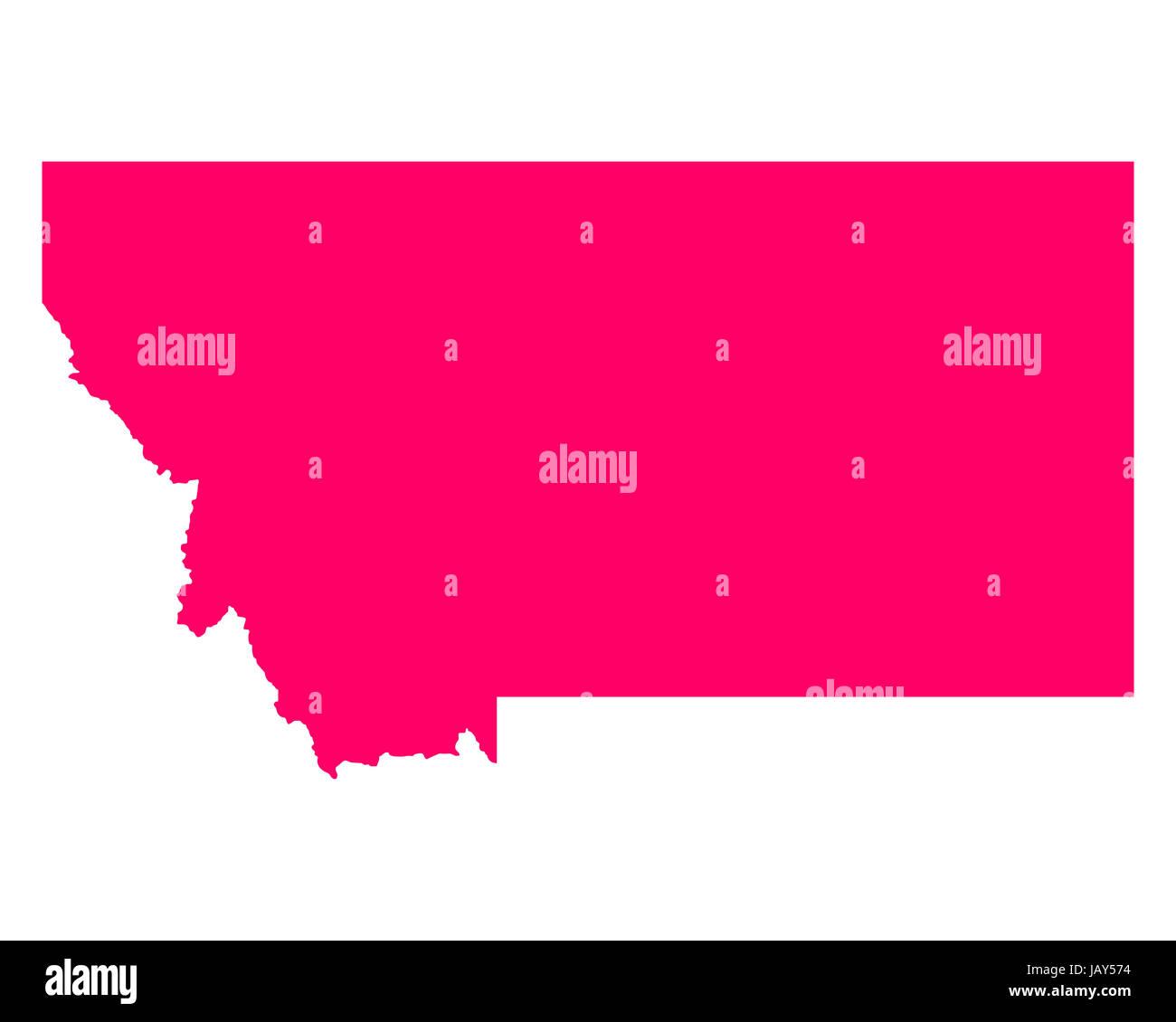 Karte von Montana - Stock Image