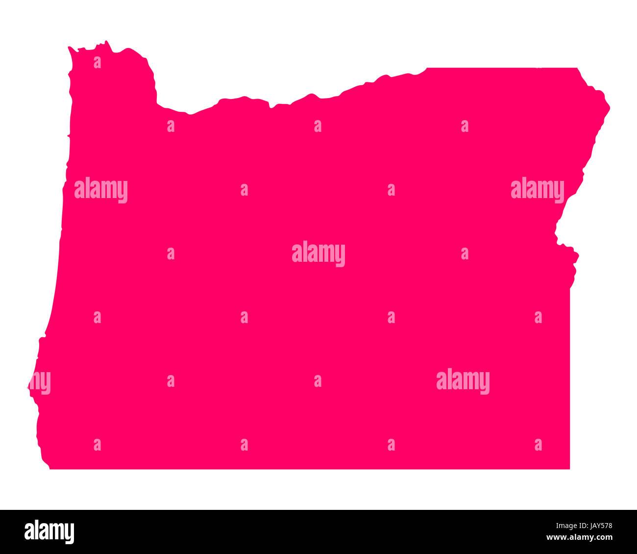Karte von Oregon - Stock Image