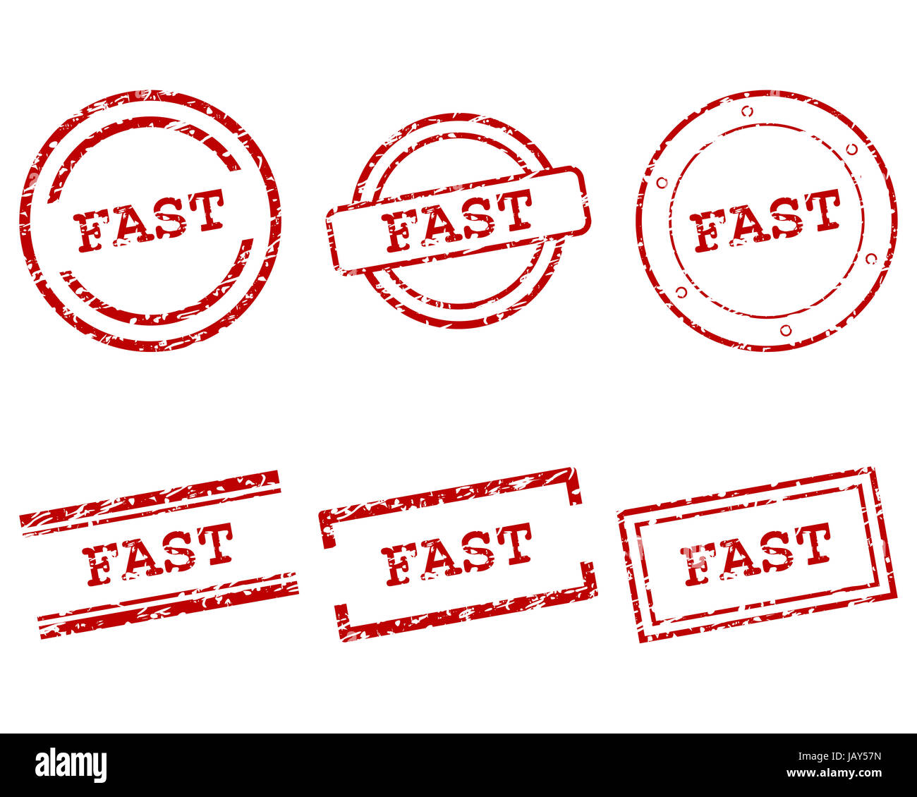 Fast Stempel - Stock Image