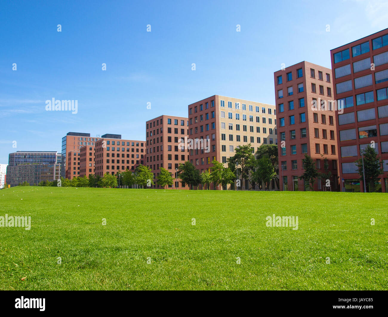 BERLIN, GERMANY - AUGUST 08, 2009: Potsdamer Platz redevelopment area has been the largest building site in Europe - Stock Image