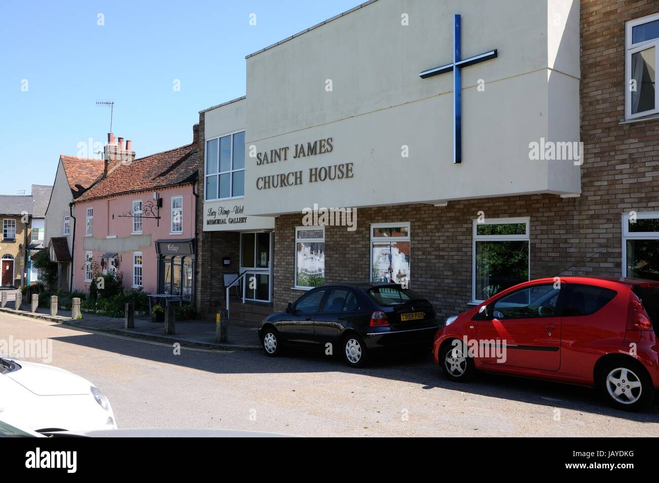 St James Church House, Bushey, Hertfordshire,, in the lane leading from the High Street beside the pond was built - Stock Image