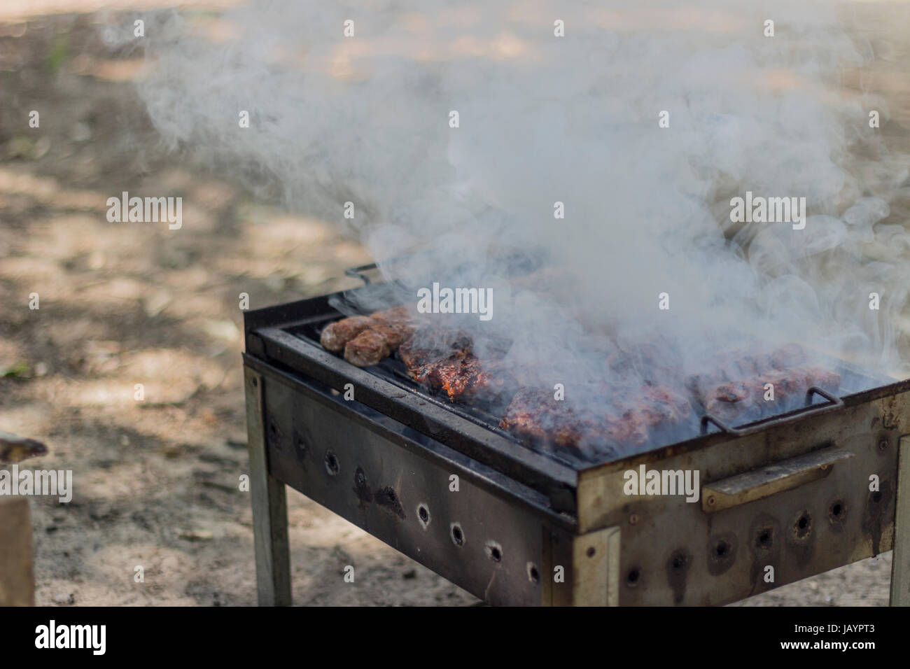 Stock Photography - Meat On A Grill - Stock Image