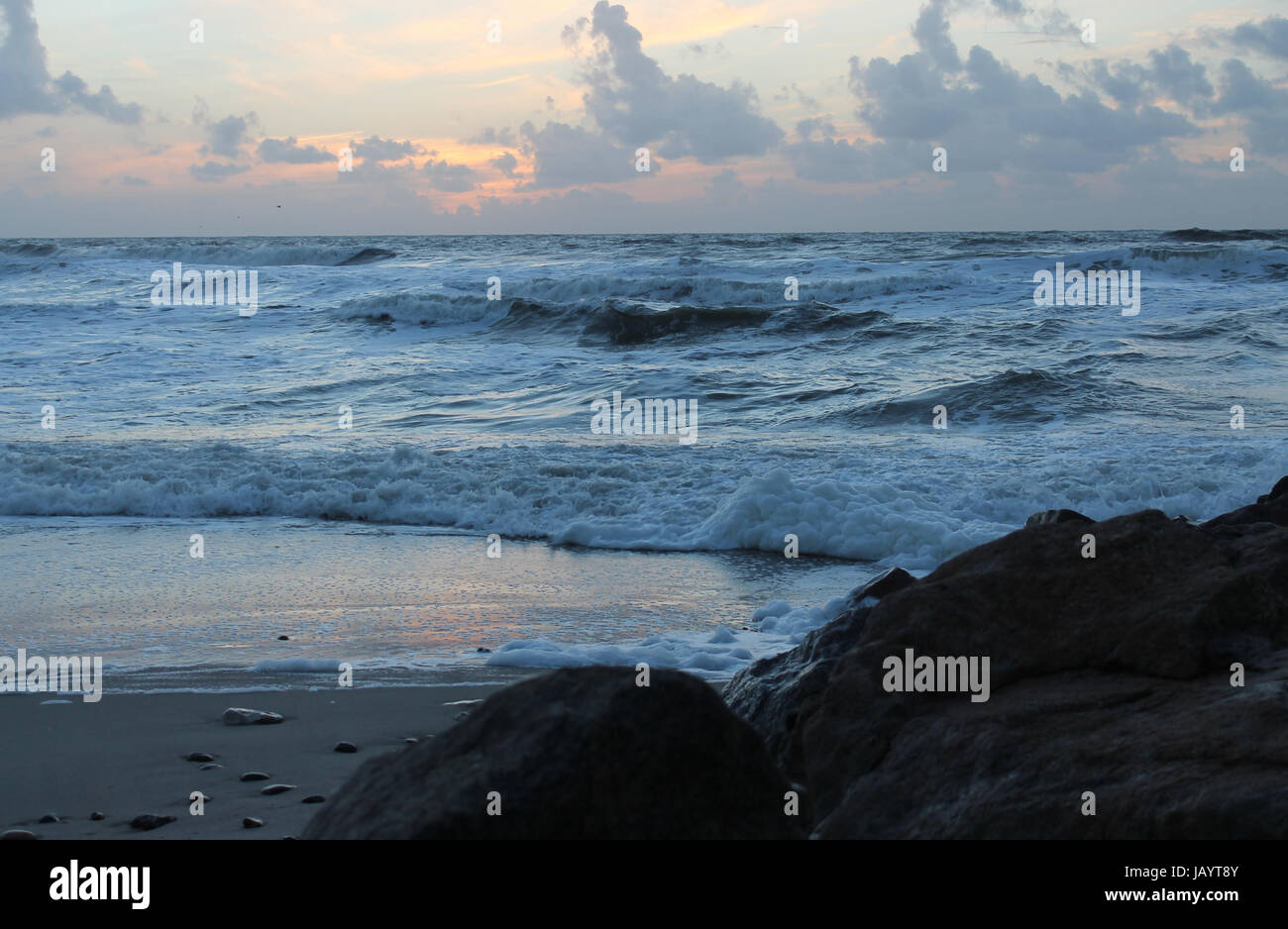 blue horizon - Stock Image