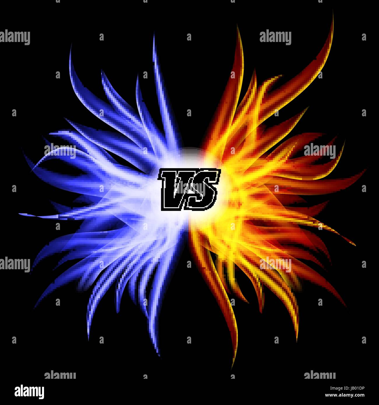 Versus Vector. VS Letters. Competition Concept Fight Symbol - Stock Vector