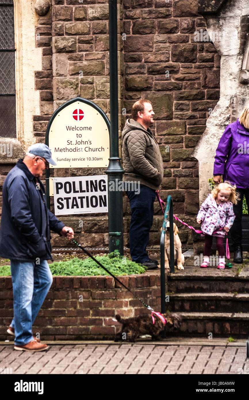 Hereford, Herefordshire. 8th June 2017. Polling stations open for the general and local elections in Herefordshire - Stock Image