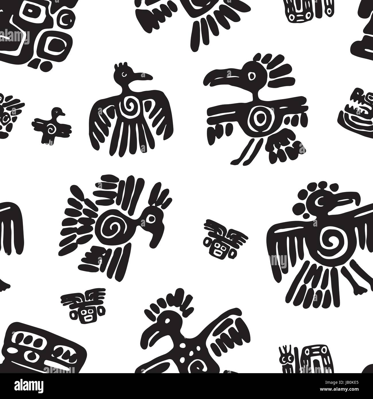 Mayan Symbols Of Animals Stock Photos Mayan Symbols Of Animals