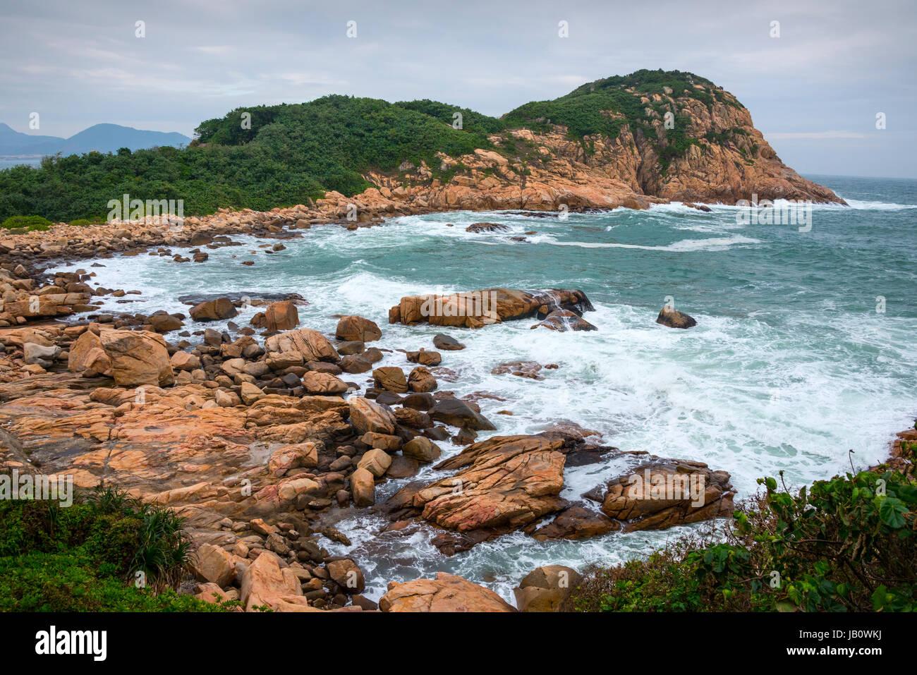 Tai Tau Chau Peninsula, Shek-O Coastline, Hong Kong - Stock Image