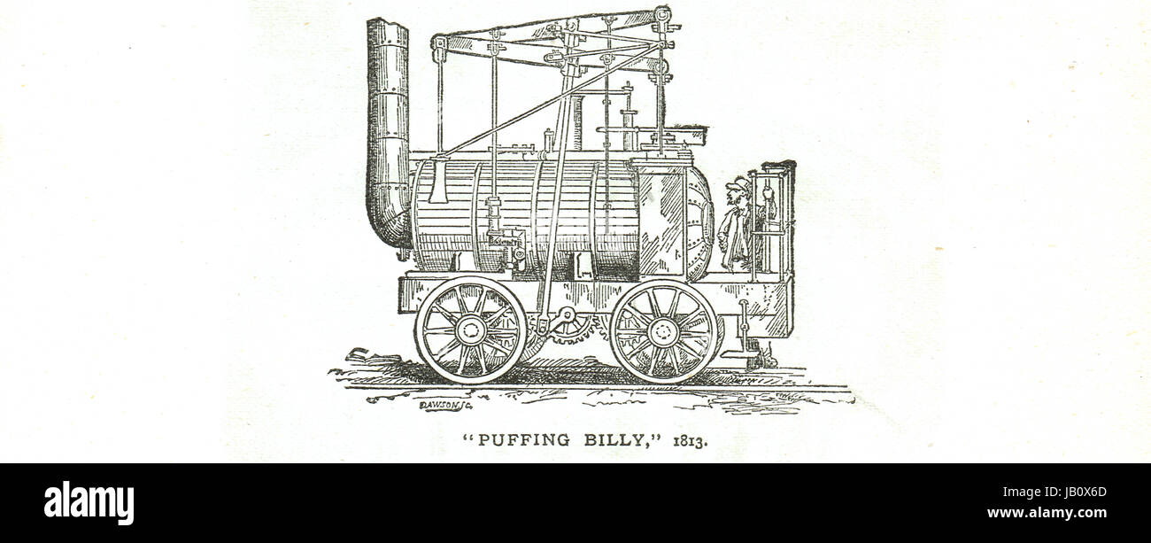 Puffing Billy Steam Locomotive 1813 - Stock Image