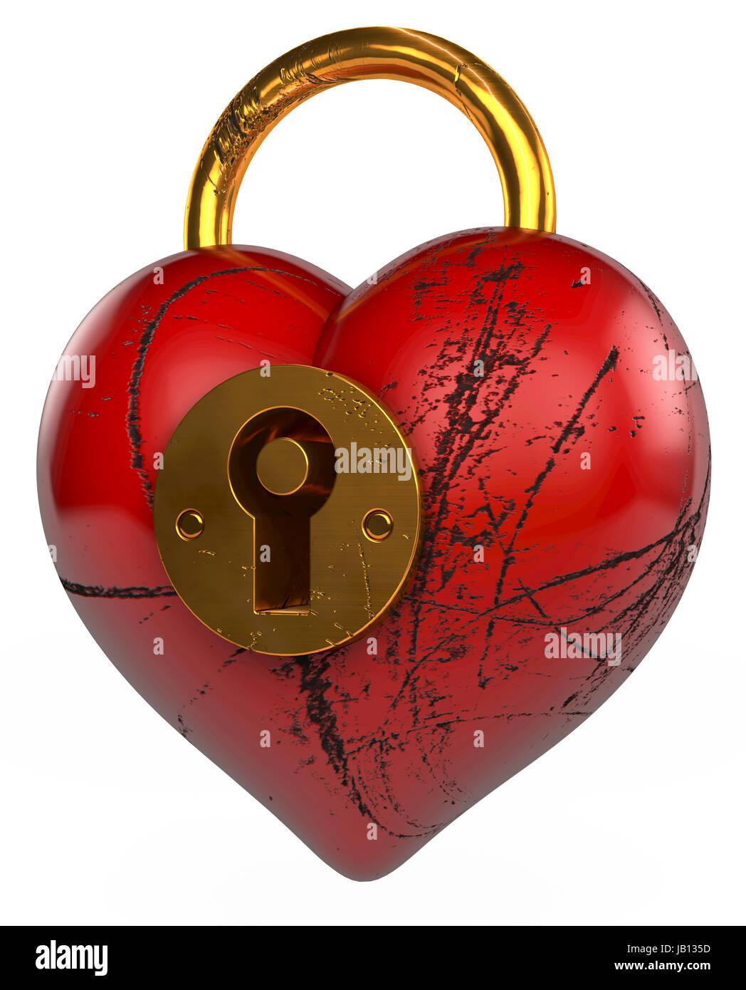 lock beautiful - Stock Image