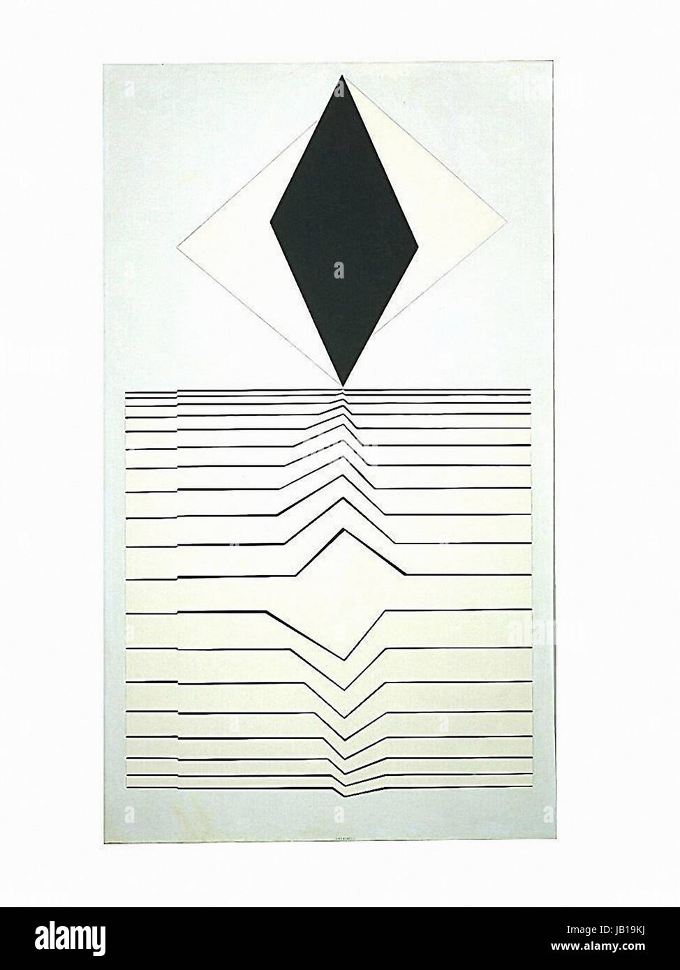 Victor Vasarely - Mizzar-  1956-1960. Oil on canvas - Stock Image