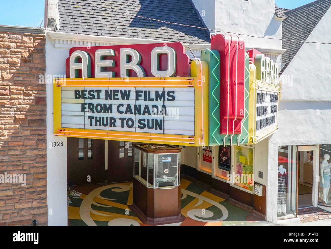Small Movie Theater In Santa Monica The Aero Cinema Los Angeles Stock Photo Alamy