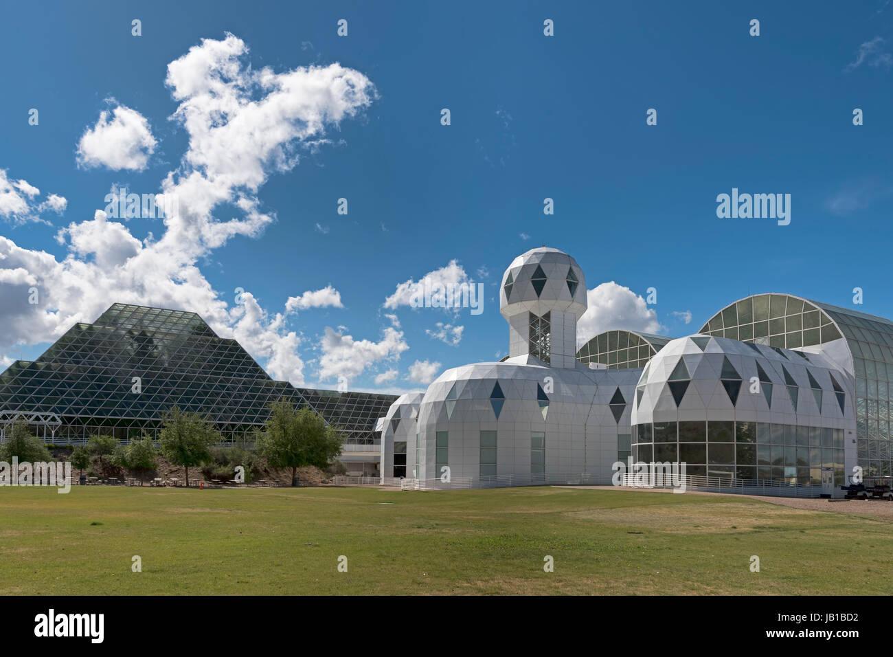 Biosphere 2, self-sustaining ecosystem, Oracle, Arizona, USA - Stock Image