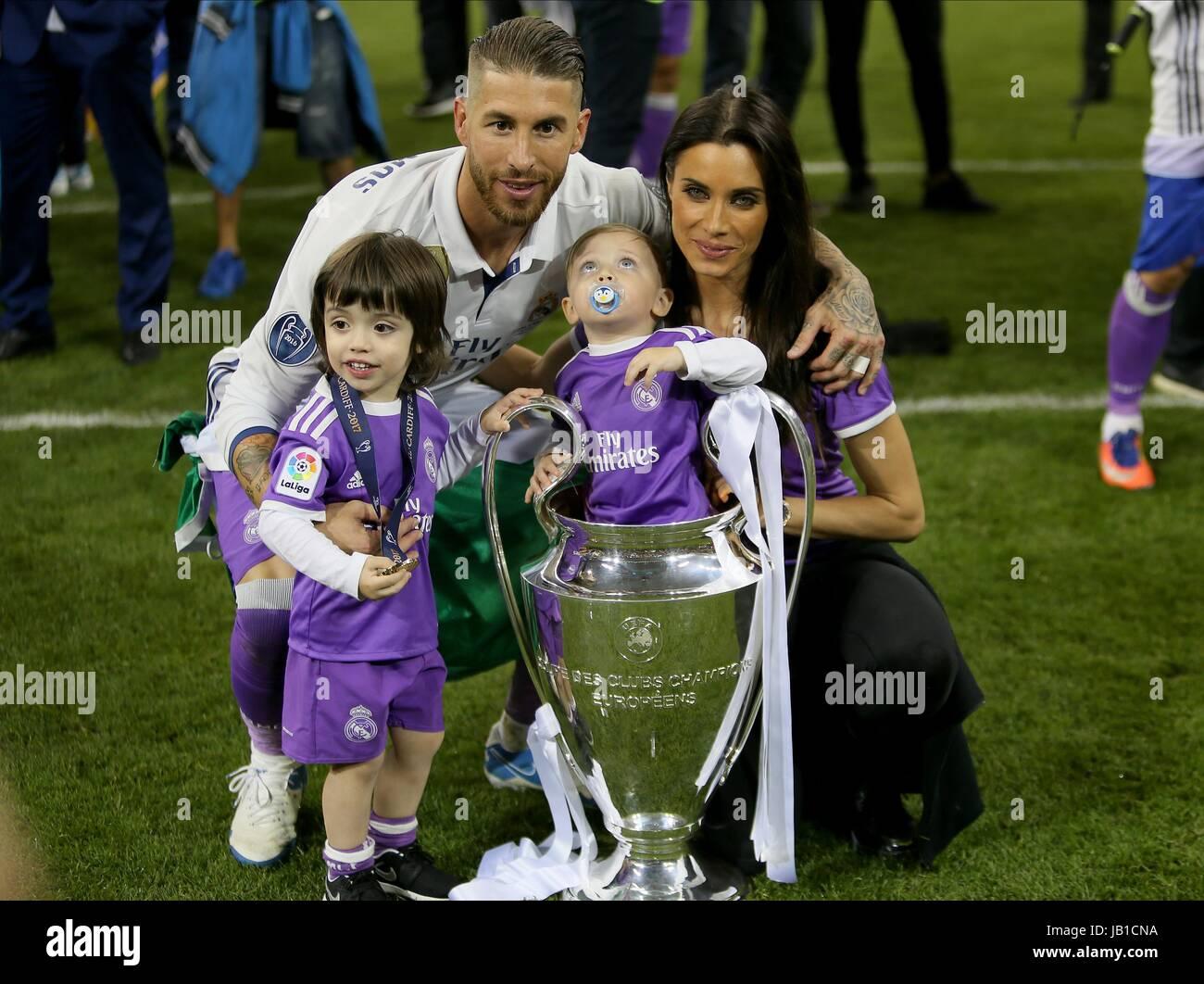 28b451ec4 SERGIO RAMOS AND FAMILY JUVENTUS V REAL MADRID NATIONAL STADIUM CARDIFF  WALES 03 June 2017