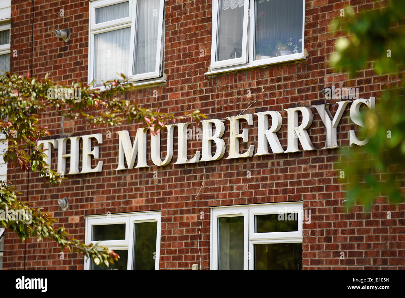 The Mulberrys flats in Sutton Road, Southend on Sea, Essex. Name with space for copy Stock Photo