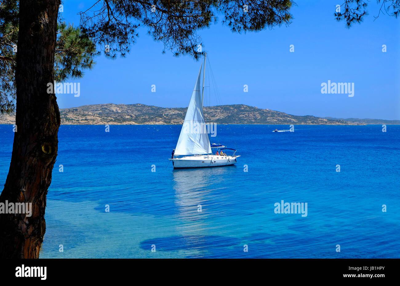 maddalena island, sardinia, italy - Stock Image