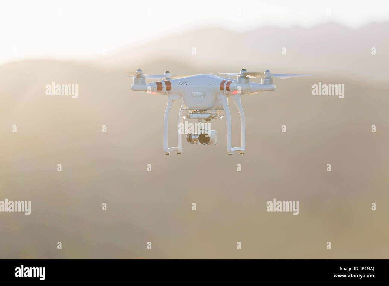 Stock Photo - Phantom Drone with camera attached - Stock Image