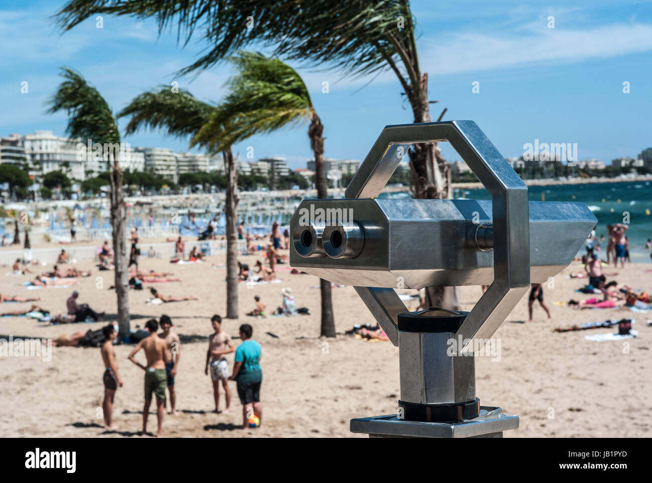 cannes france the beach on summer time © Frédéric BEAUMONT - Stock Image