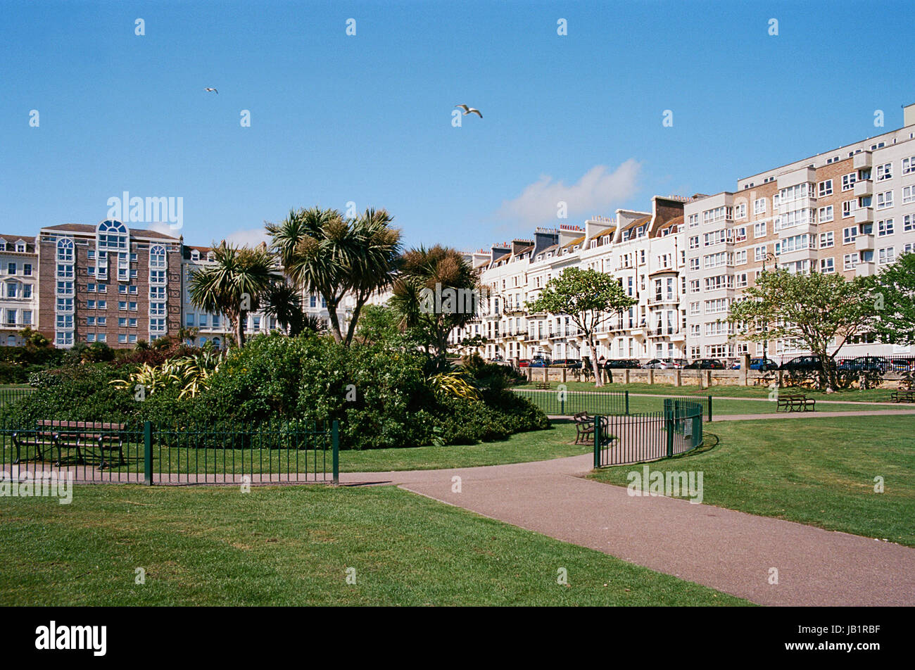 Warrior Square and Gardens, St Leonards On Sea, East Sussex, UK Stock Photo
