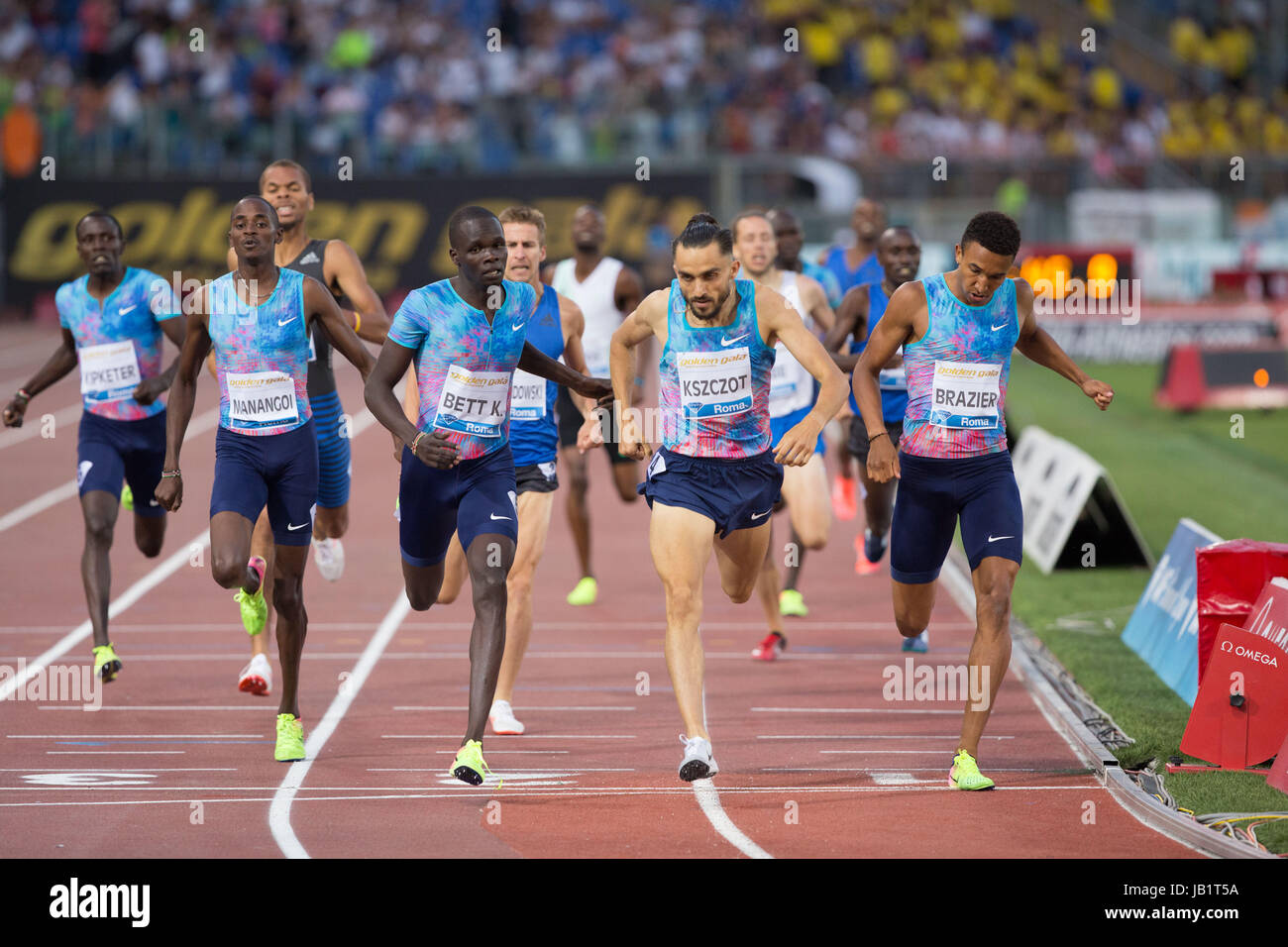 Golden Gala 2017 at Olympic Stadium in Rome in June, 8, 2017 - Stock Image