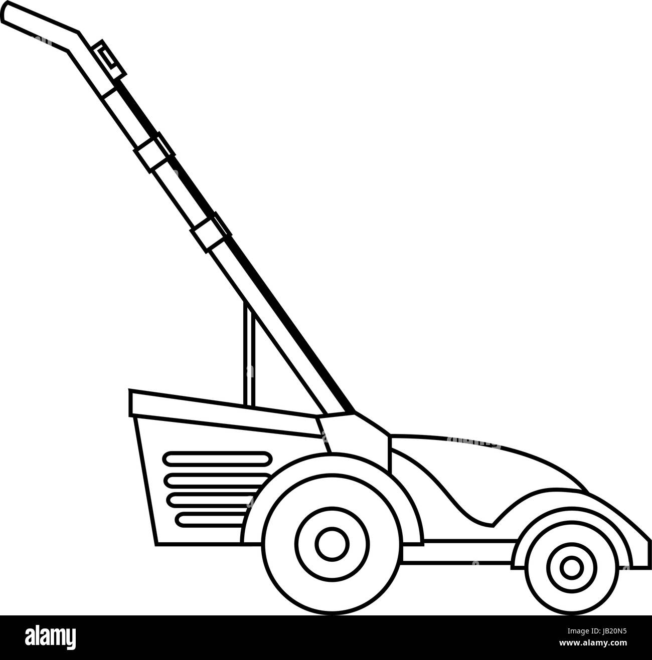 Lawn Mower Black And White Stock Photos Amp Images Alamy