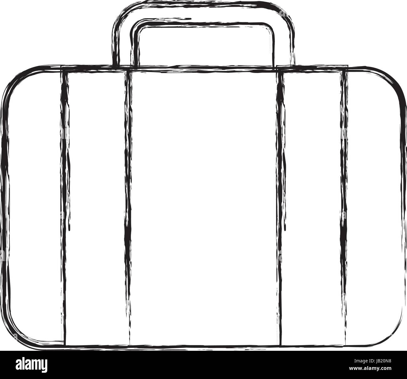 sketch draw suitcase cartoon Stock Vector Art \u0026 Illustration