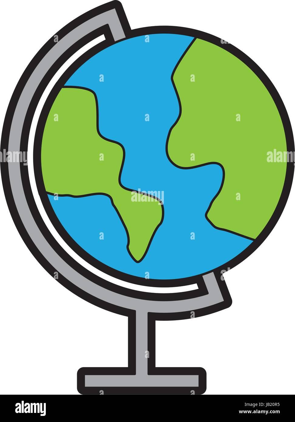 color world map cartoon