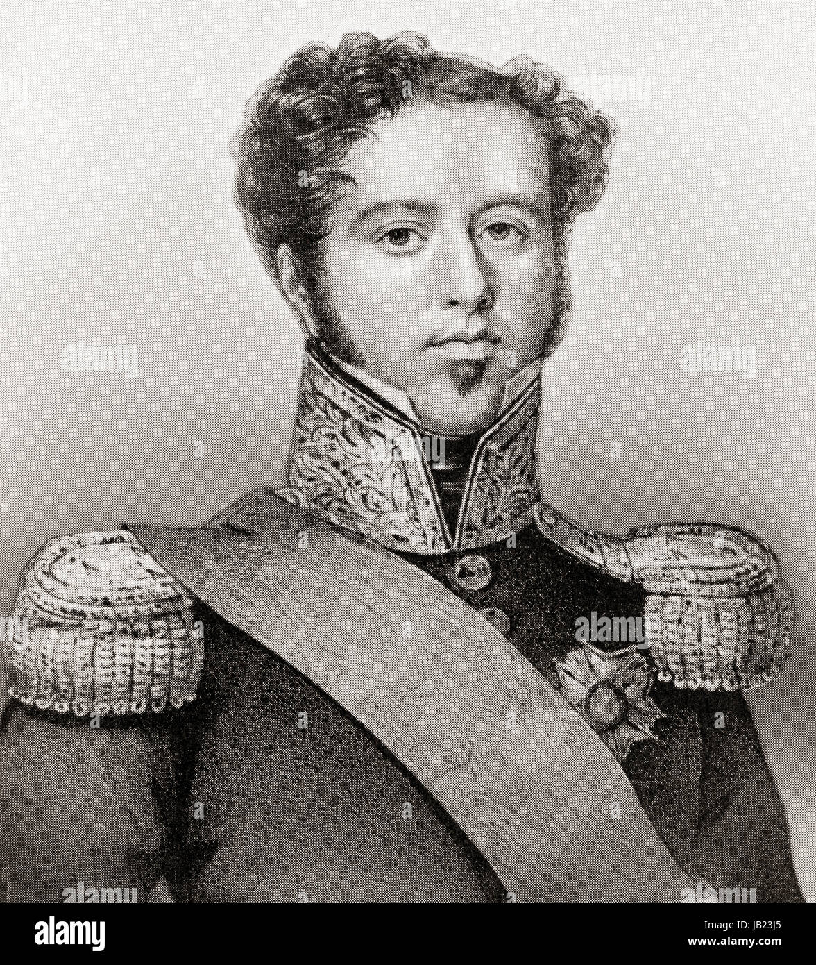 Dom Pedro I, 1798 – 1834, aka 'the Liberator' and 'the soldier king'.  Founder and first ruler of - Stock Image