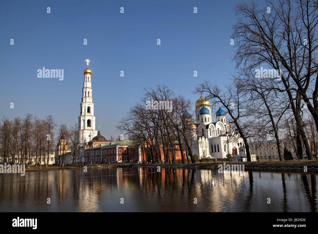 St. Nicholas Ugreshsky (Nikolo-Ugreshsky) monastery at Dzerzhinsky, Moscow region, Russia - Stock Image