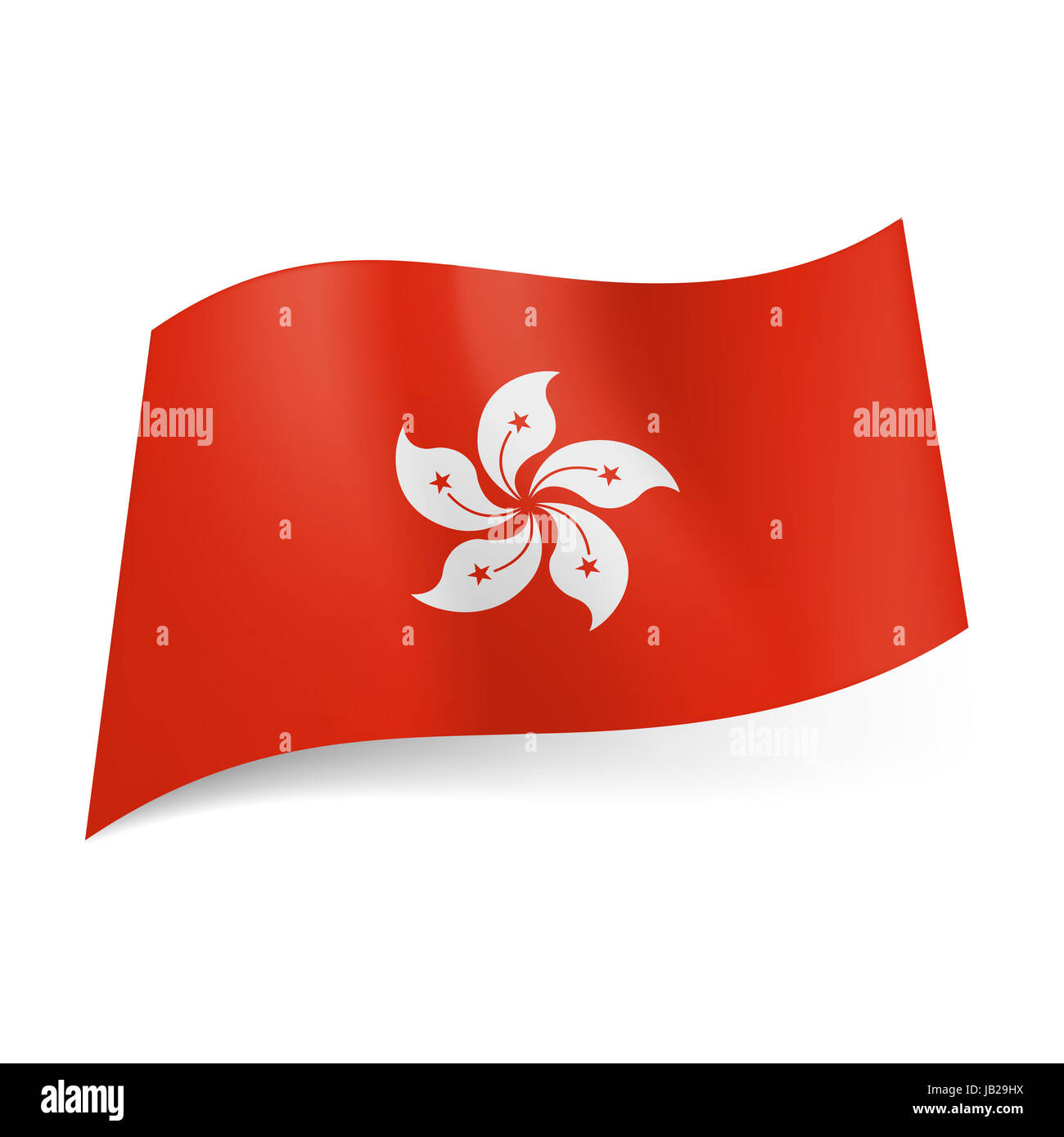 National flag of hong kong white orchid flower on red background national flag of hong kong white orchid flower on red background mightylinksfo