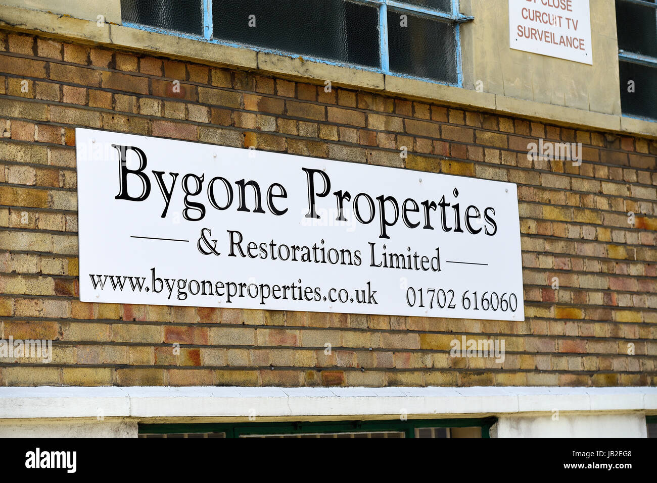 Bygone Properties & Restorations Limited in Sutton Road, Southend on Sea, Essex, UK. Space for copy Stock Photo