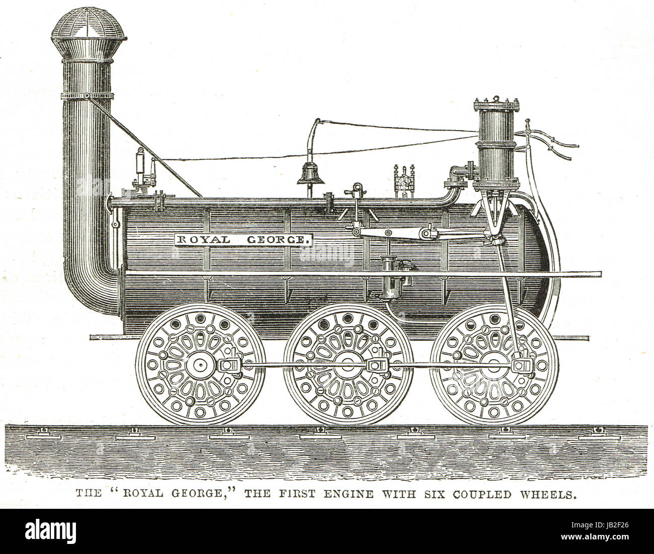 The Royal George Steam Locomotive 1827 by Timothy Hackworth - Stock Image