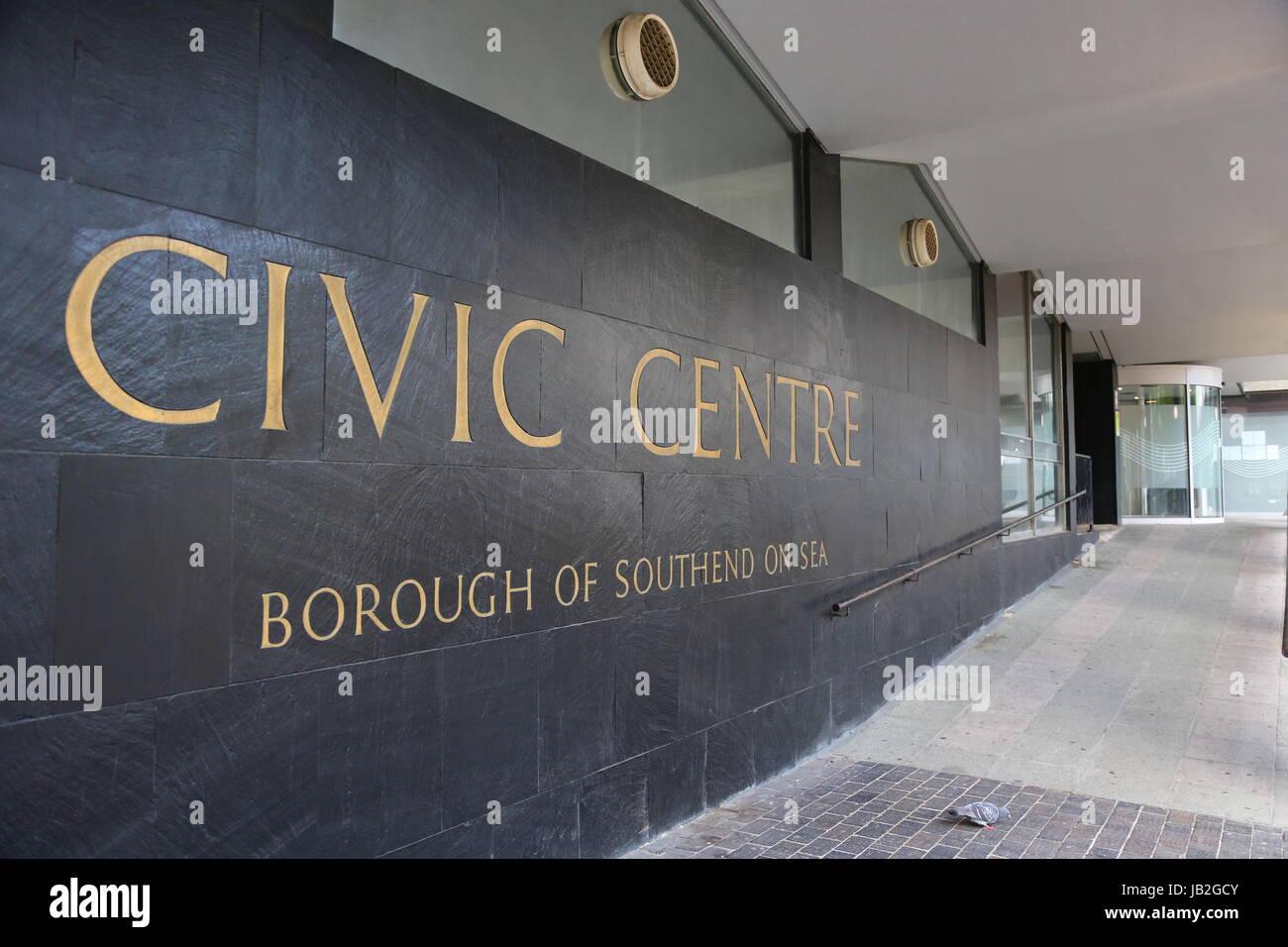 Civic Centre, Victoria Avenue, Southend-on-Sea, Essex. SS2 6ER - Stock Image
