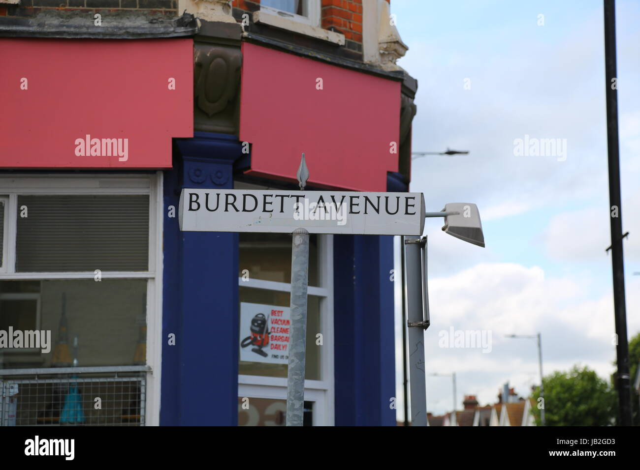 Burdett Avenue, Westcliff-on-Sea, Essex. Stock Photo