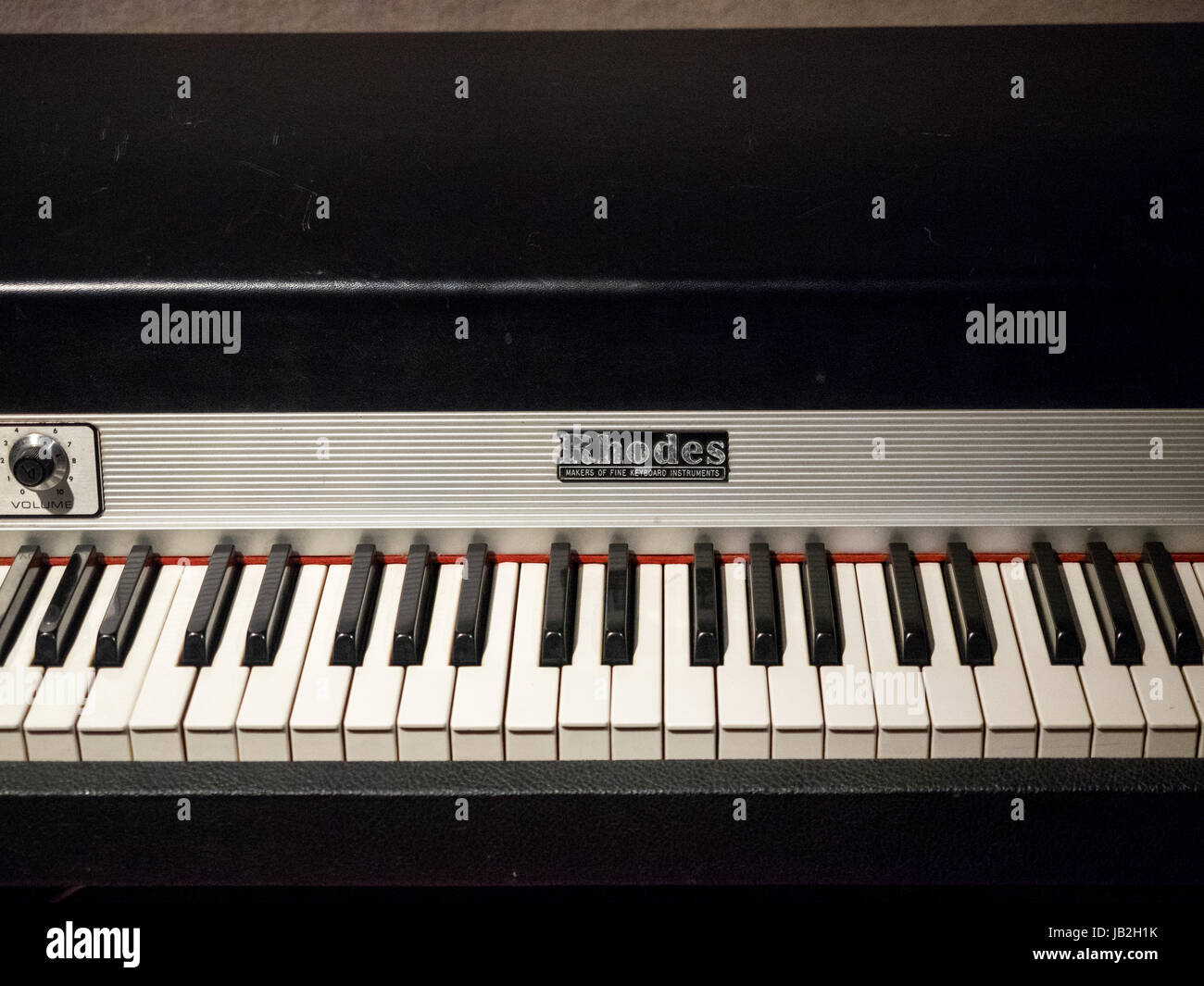 Rhodes Electric Piano at the RCA Victor recording studio in Nashville Tennessee where Elvis Presley recorded - Stock Image