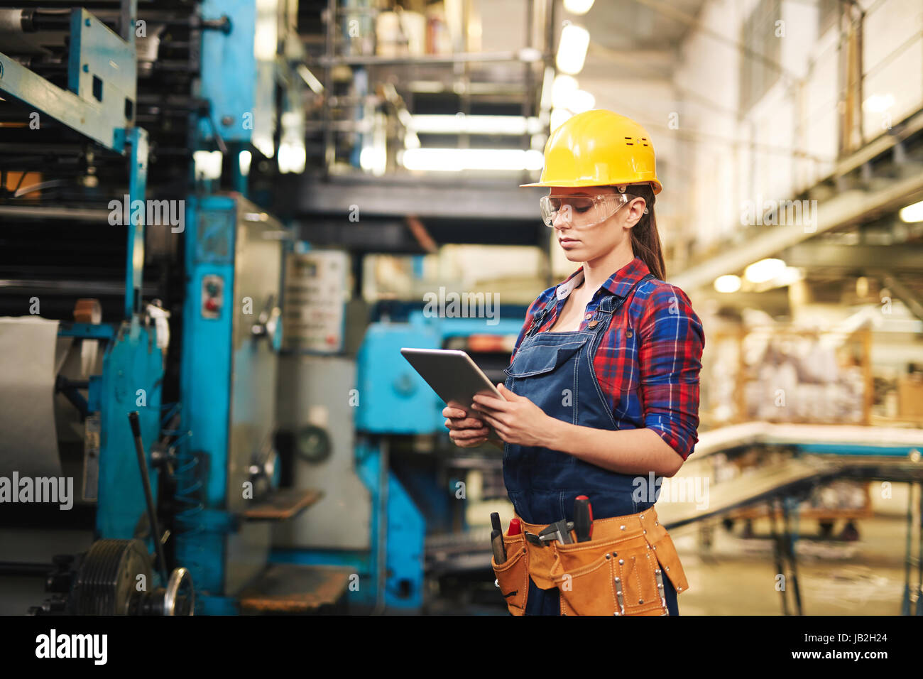 Making Inventory in Modern Plant - Stock Image