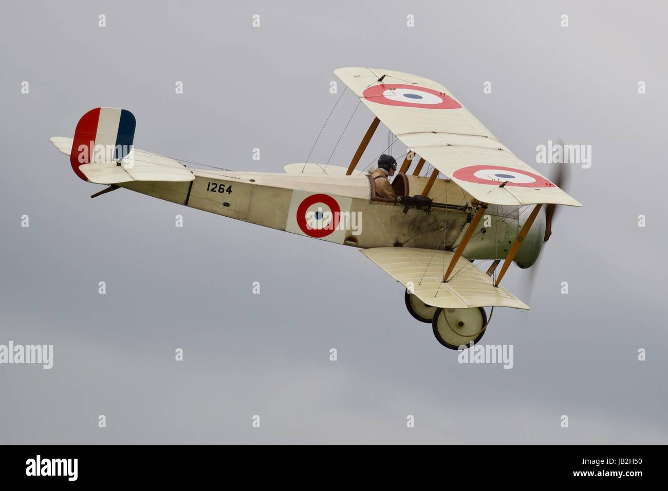 Bristol Scout Type-C Flying at Shuttleworth Fly Navy Air Show - Stock Image